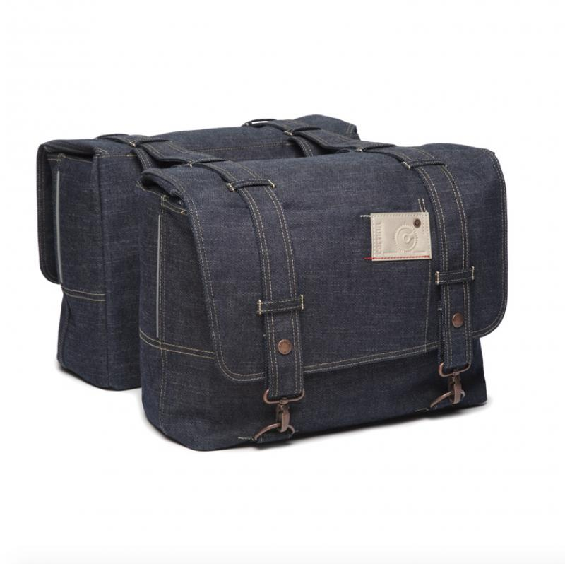 Sacoche double Cortina Kansas Denim