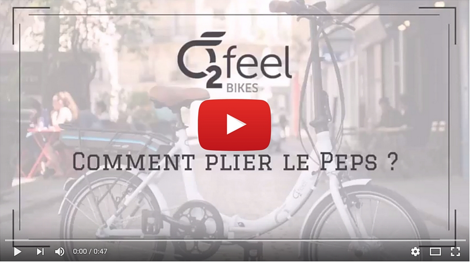 Comment plier le vélo Pep\'s O2FEEL ?