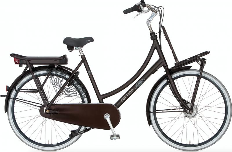 Cortina E-Roots Transport Maman 2018- 36 volt Espresso Brown Matt