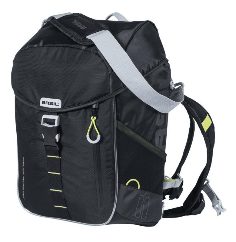 Sacoche simple BASIL Daypack Miles Led Black