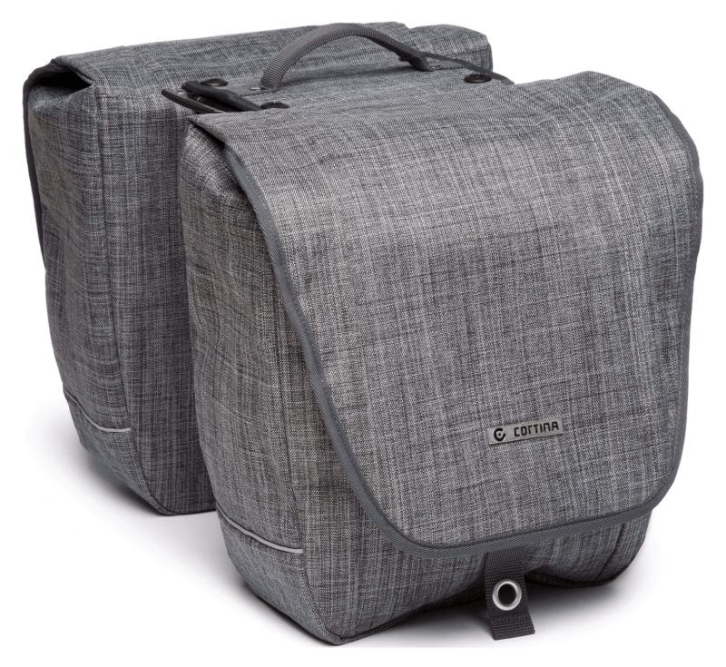 Sacoche double Cortina Riga Gris denim -AVS